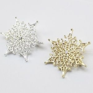 Gold & Silver Tone Snowflake Brooches